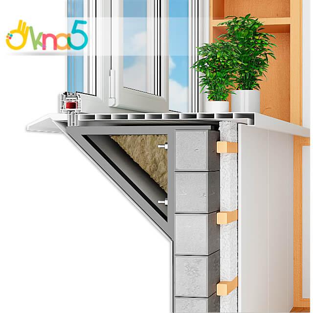 Балкон с выносом косынка или по подоконнику иллюстрация OKNA-KIEV