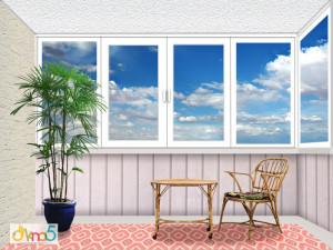 Цены на остекление балкона Г-образной формы