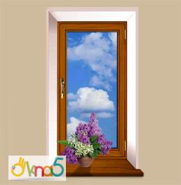 Одностворчатое ламинированное окно - компания OKNA KIEV