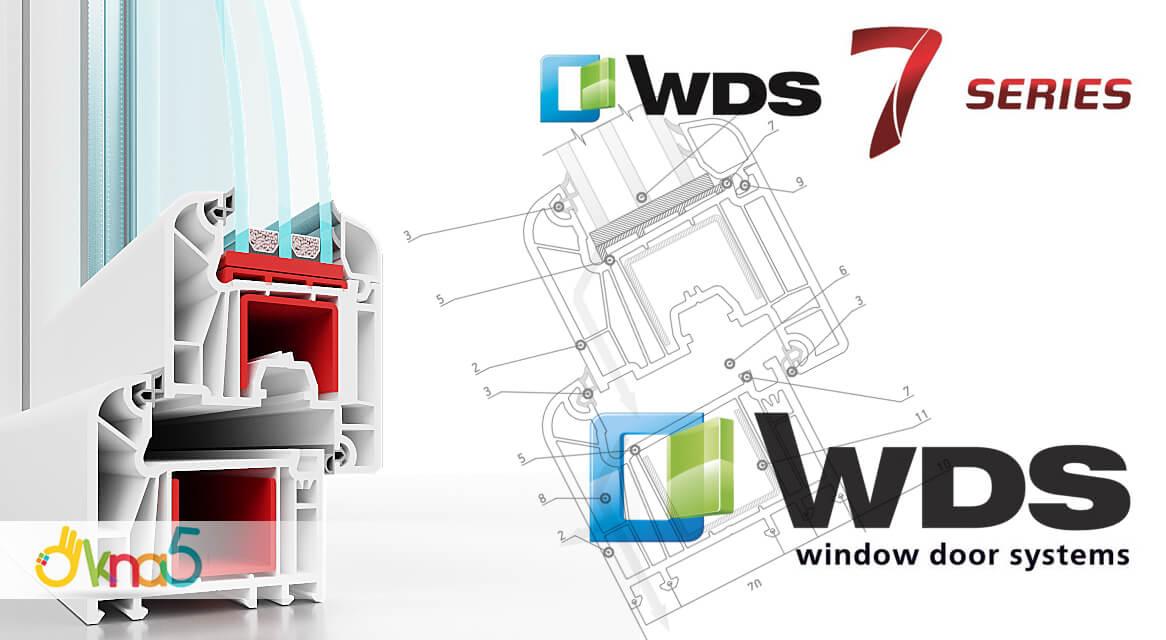 """Пластиковые окна WDS 505 в разрезе, компания """"OKNA-KIEV"""""""