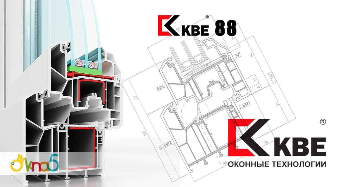 """Пластиковые окна КБЕ 88 в разрезе, магазин окон """"ОКна 5"""""""