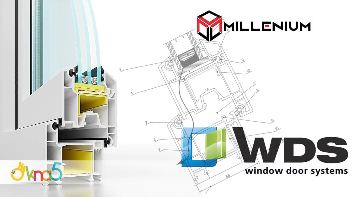 Окна пластиковые WDS Millenium в фирме оконной