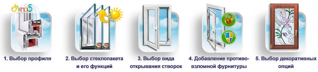 """У нас Вы можете купить окна в любой комплектации! Фирма """"ОКна 5"""""""