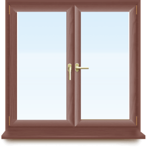 ламинированные окна из ПВХ - Okna5