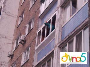 """Винос балкона по підвіконню від компанії """"ОКНА5"""""""