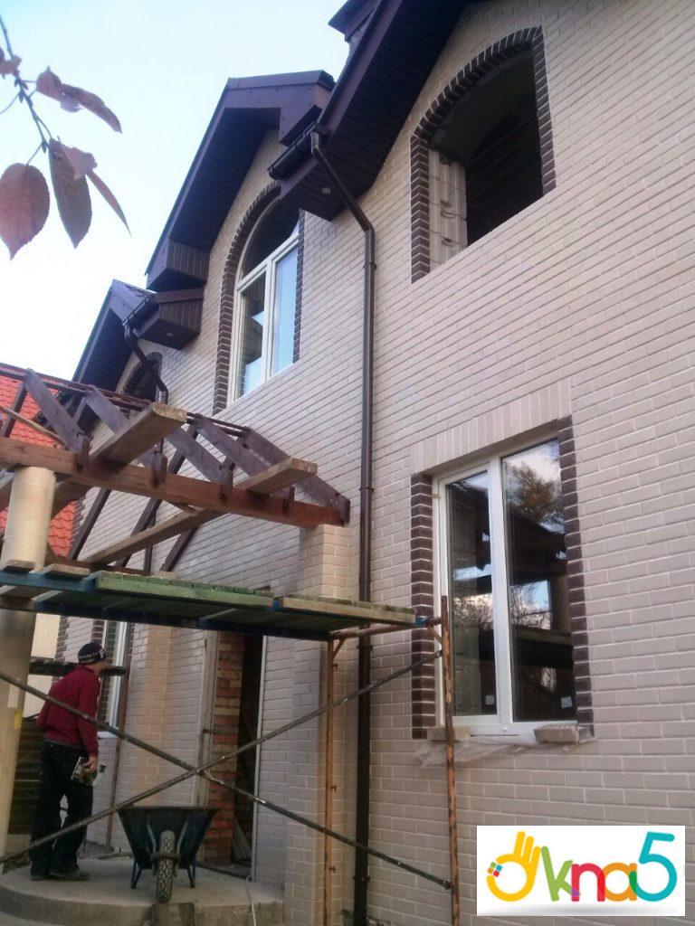 нестандартные арочные окна в Киеве - Okna5