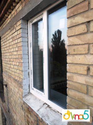 двустворчатое пластиковое окно - Okna5