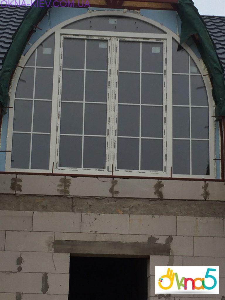 Арочные пластиковые окна Rehau - фирма ОКна 5