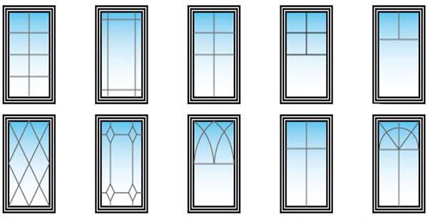 варианты шпросов на пластиковые окна - Okna5
