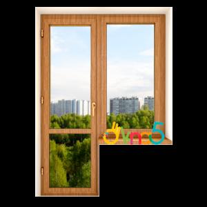 балконный блок ламинированный