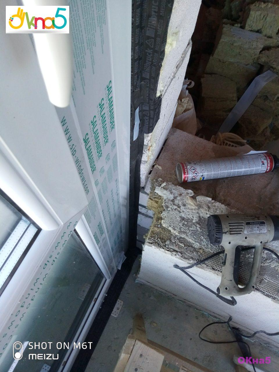 Установка пластиковых окон на монтажные клинья - фото бригады №11