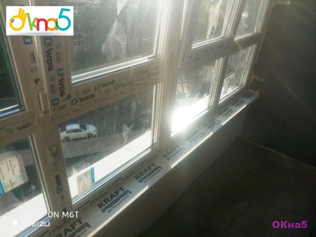 """Остекление балконов лоджий ЖК Каховская от © """"ОКна 5"""""""