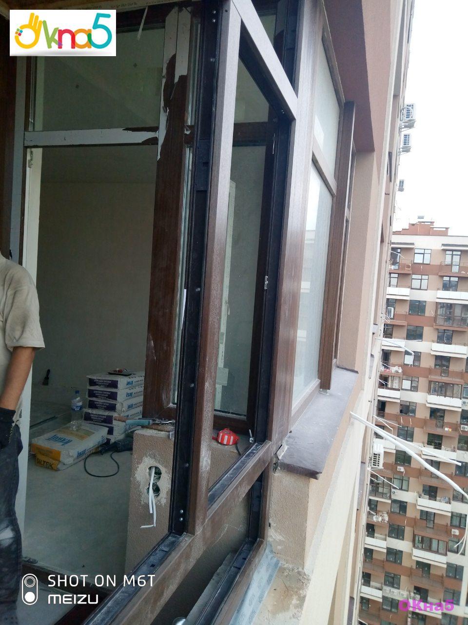 Ламинированные балконы ЖК Варшавский Микрорайон - монтажная бригада 4
