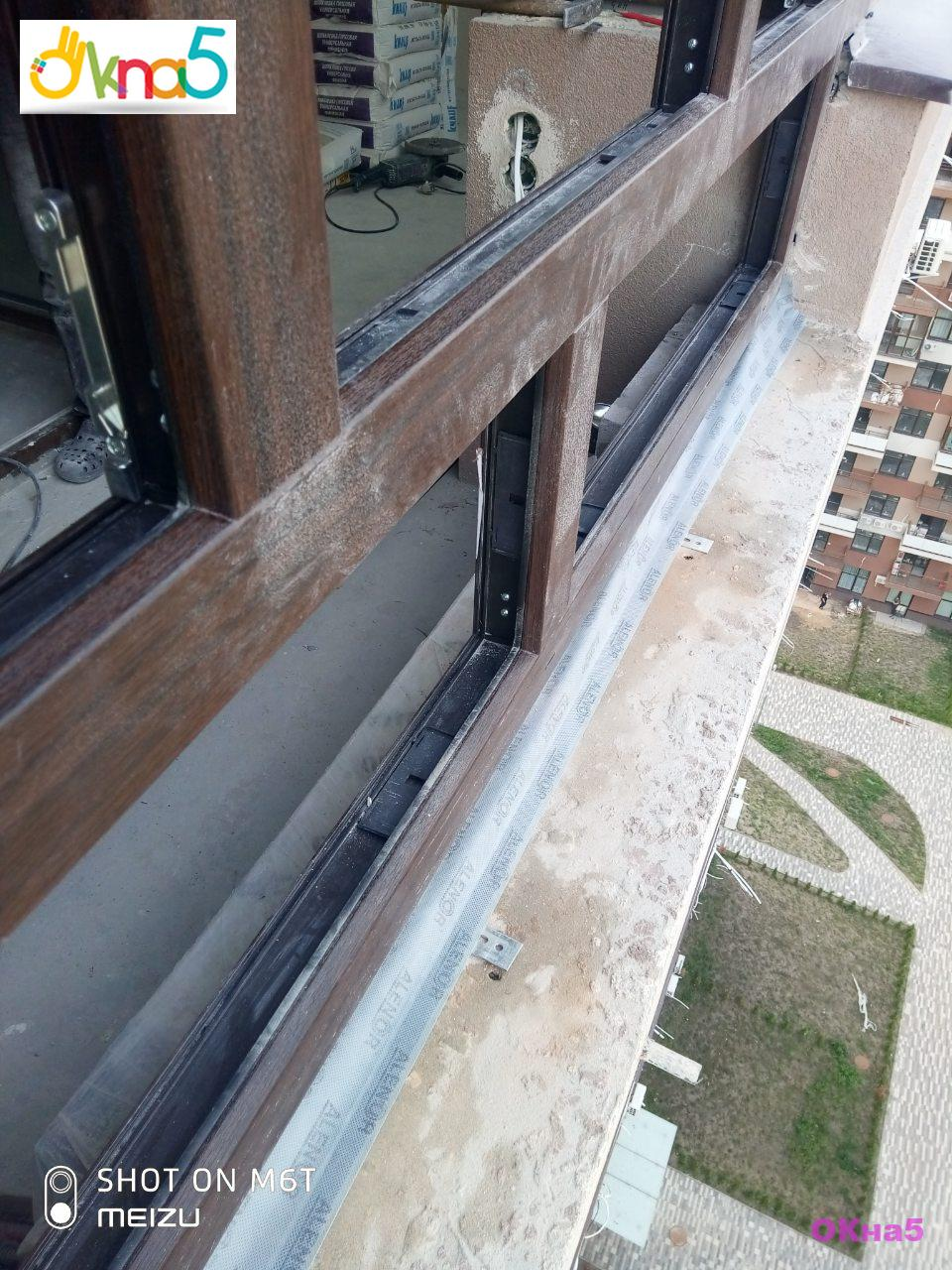 Ламинированные окна на балкон в ЖК Варшавский Квартал - фото бригада 4