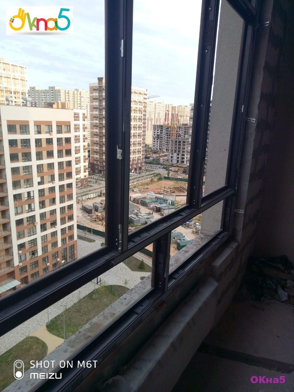 Ламинированный балкон Rehau в ЖК Варшавский Микрорайон - фото бригады 4