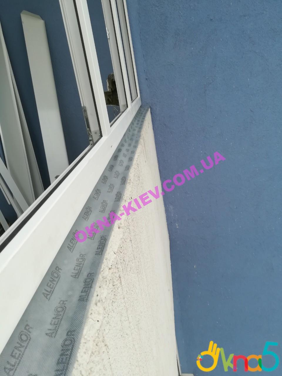 Монтаж балкон с лентами Киев ул. Наумовича 6 фото бригады №5