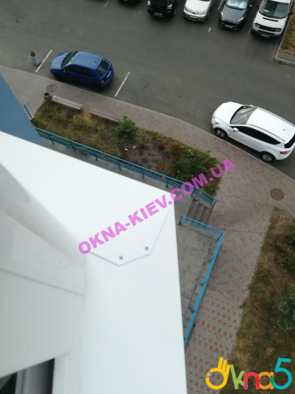 Остекление балкона Киев на ул. Наумовича 6 фото монтажной бригады 5