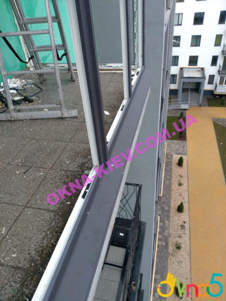 Французское остекление балконов ЖК Европейка ул. Соборности 103/9 фото ОКна 5