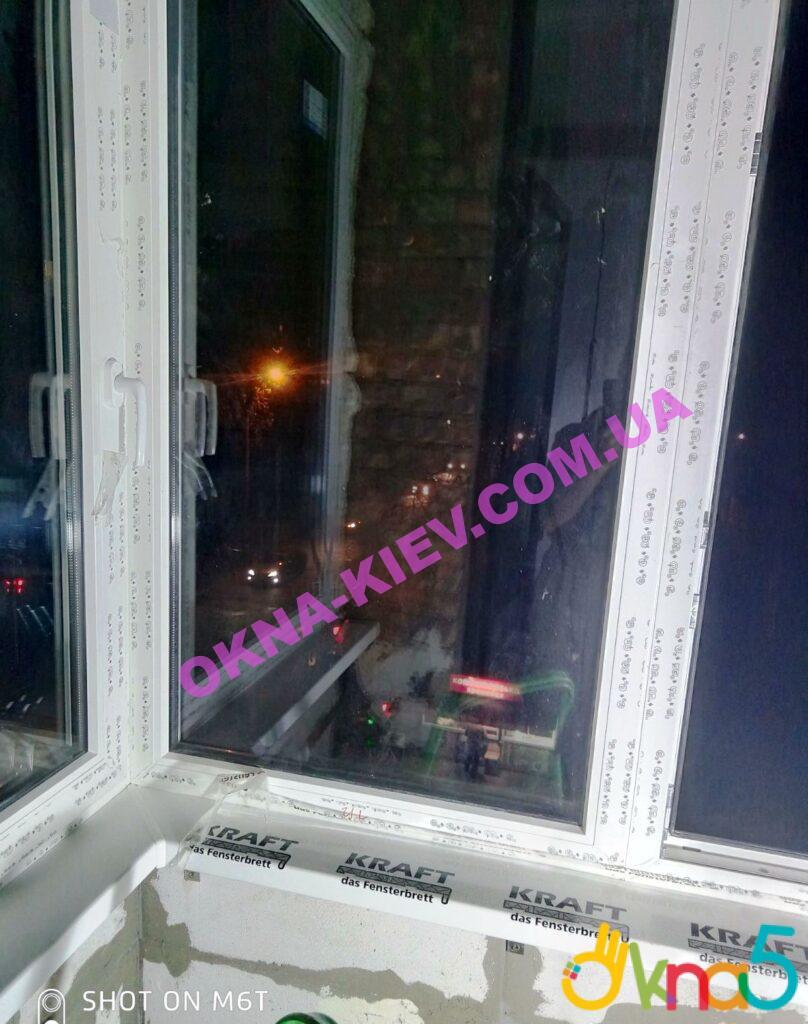 Остекление балкона окнами Rehau с подоконником KRAFT фото 4 бригады