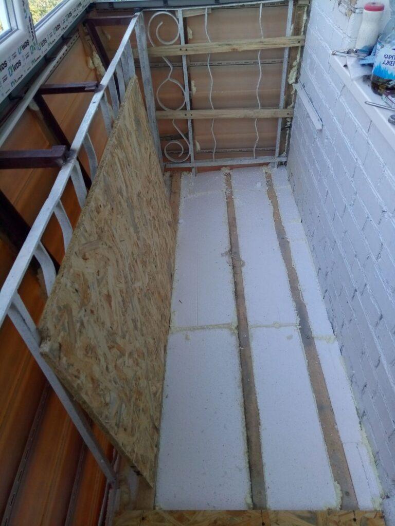Теплый пол на балконе и лоджии фото Окна 5
