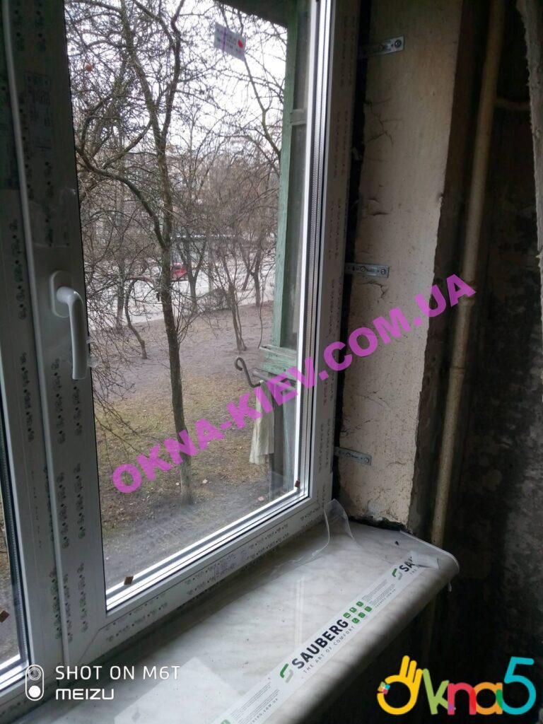 Пластикове підвіконня Сауберг Київ фото OKNA-KIEV