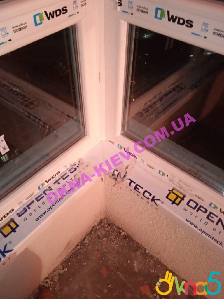 Пластиковые подоконники Опентек Киев ЖК Каховский фото ОКна 5
