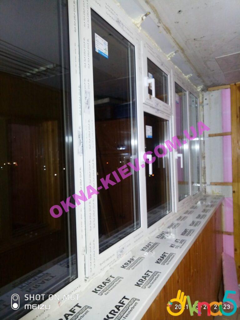 Пластиковые подоконники КРАФТ на балкон фото ОКна 5